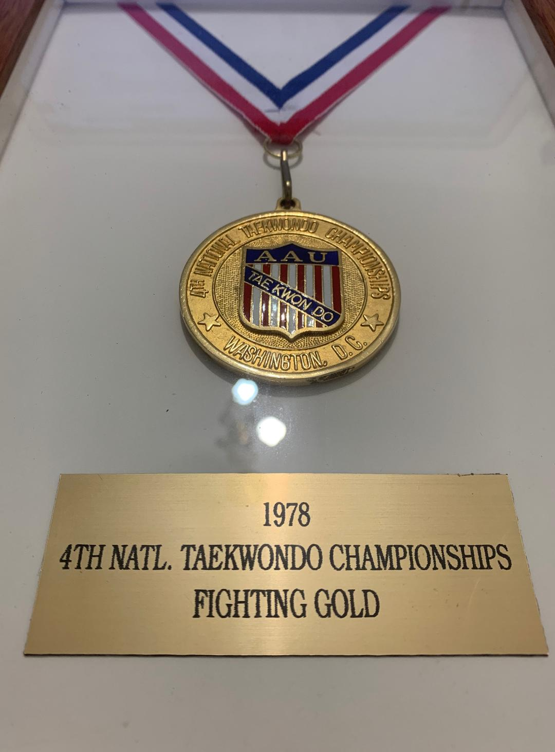 Gold Medal of the 4th National Taekwondo Championships held in 1978 under the auspices of the AAU