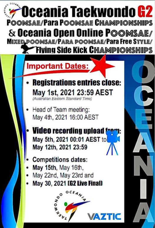 Oceania Poomsae/ Para Poomsae Championships