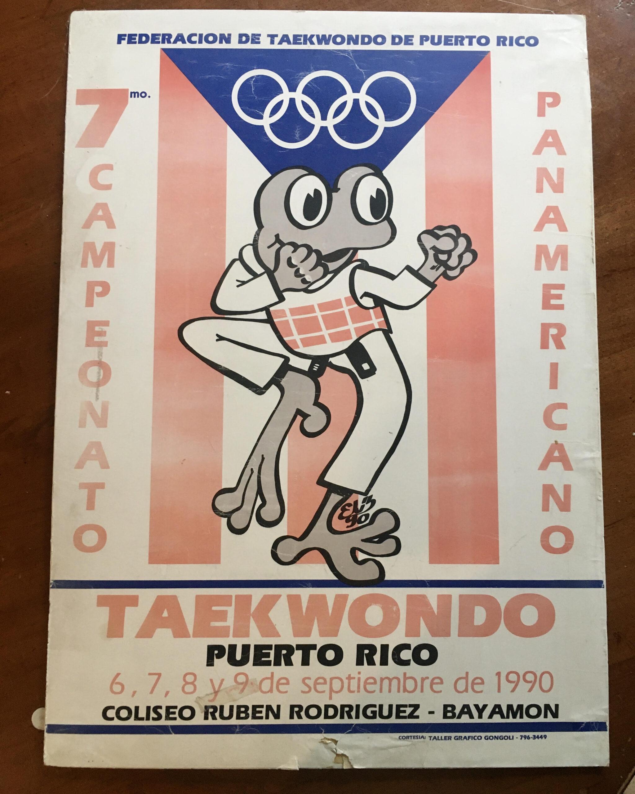Poster of 1990 Taekwondo Championship in Puerto Rico
